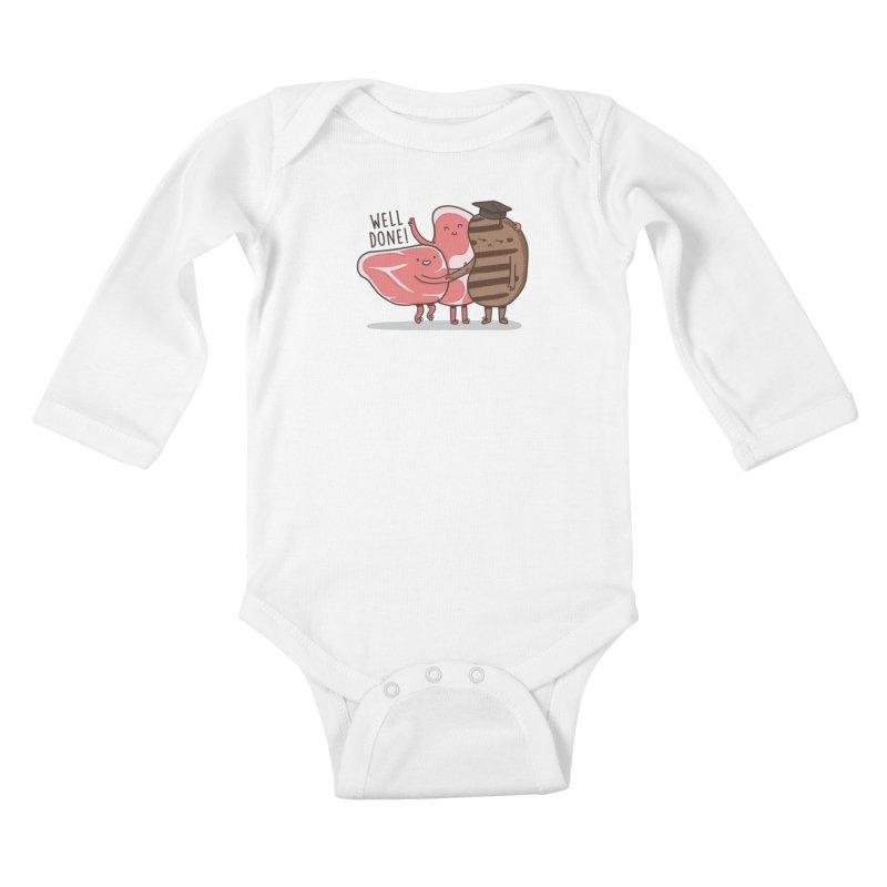 THE GRADUATE  Kids Baby Longsleeve Bodysuit by RiLi's Artist Shop