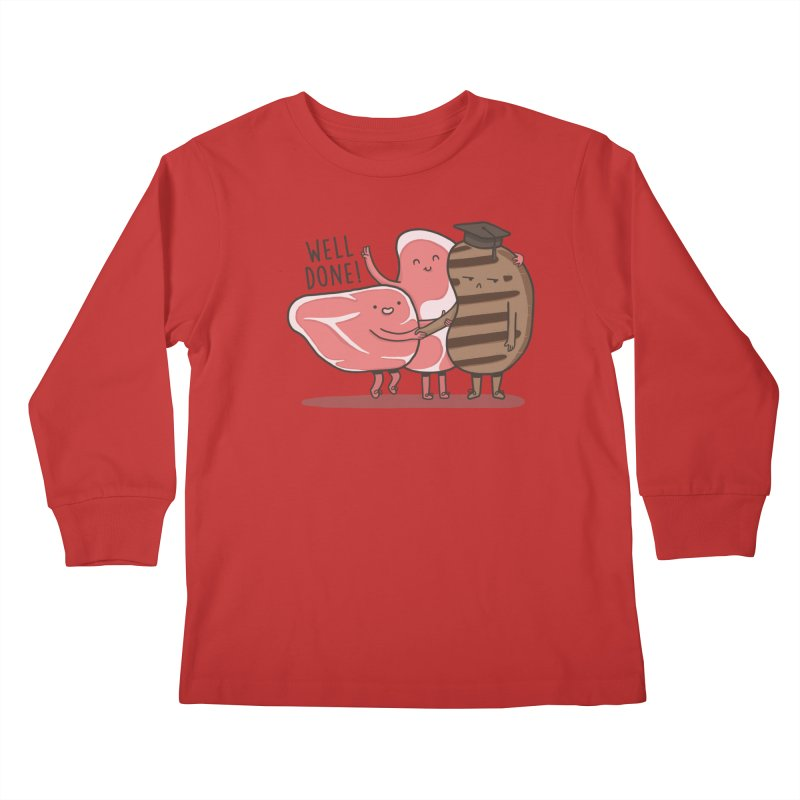 THE GRADUATE  Kids Longsleeve T-Shirt by RiLi's Artist Shop