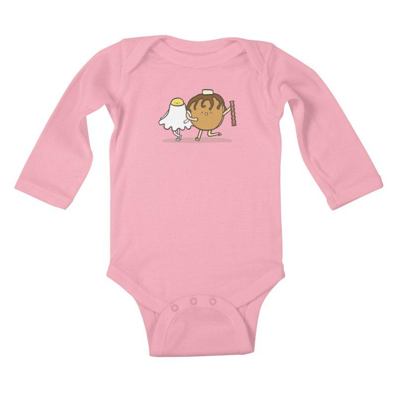 TAP DANCE FOR BREAKFAST Kids Baby Longsleeve Bodysuit by RiLi's Artist Shop
