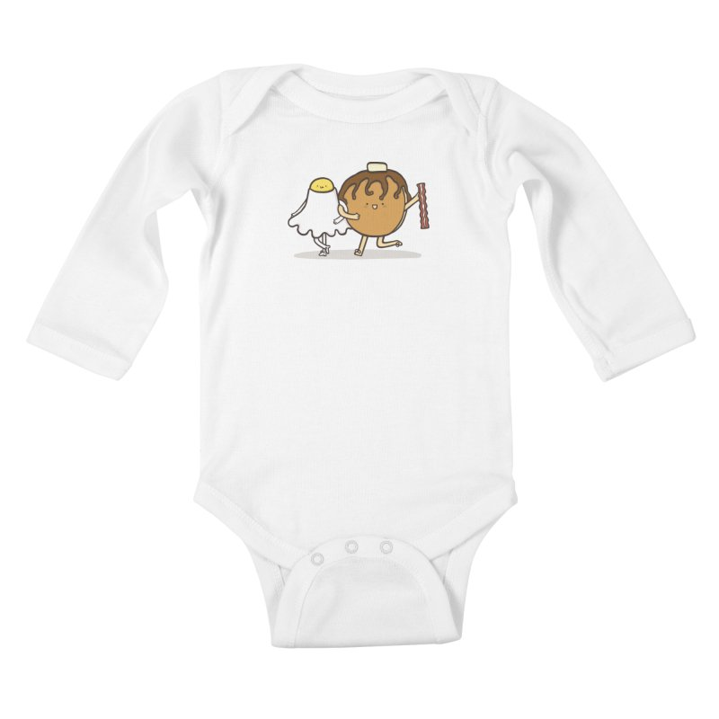 TAP DANCE FOR BREAKFAST Kids Baby Longsleeve Bodysuit by RiLi's Artist Shop