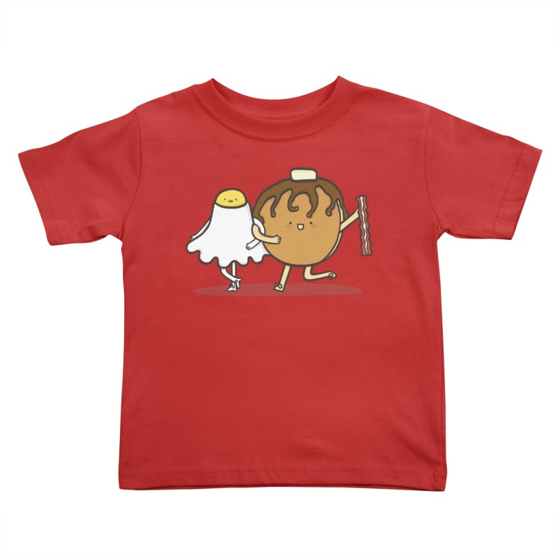 TAP DANCE FOR BREAKFAST Kids Toddler T-Shirt by RiLi's Artist Shop