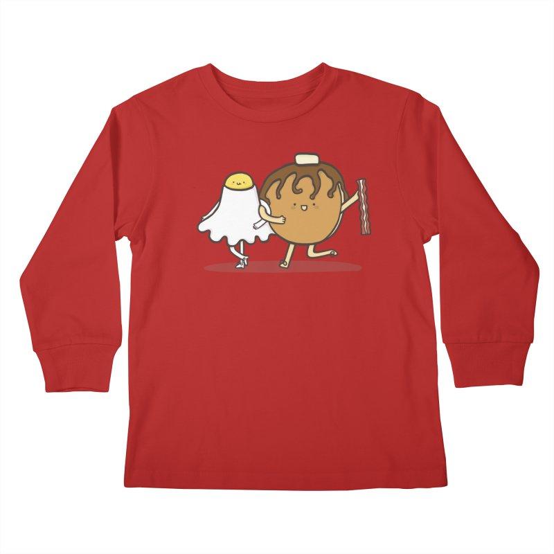 TAP DANCE FOR BREAKFAST Kids Longsleeve T-Shirt by RiLi's Artist Shop