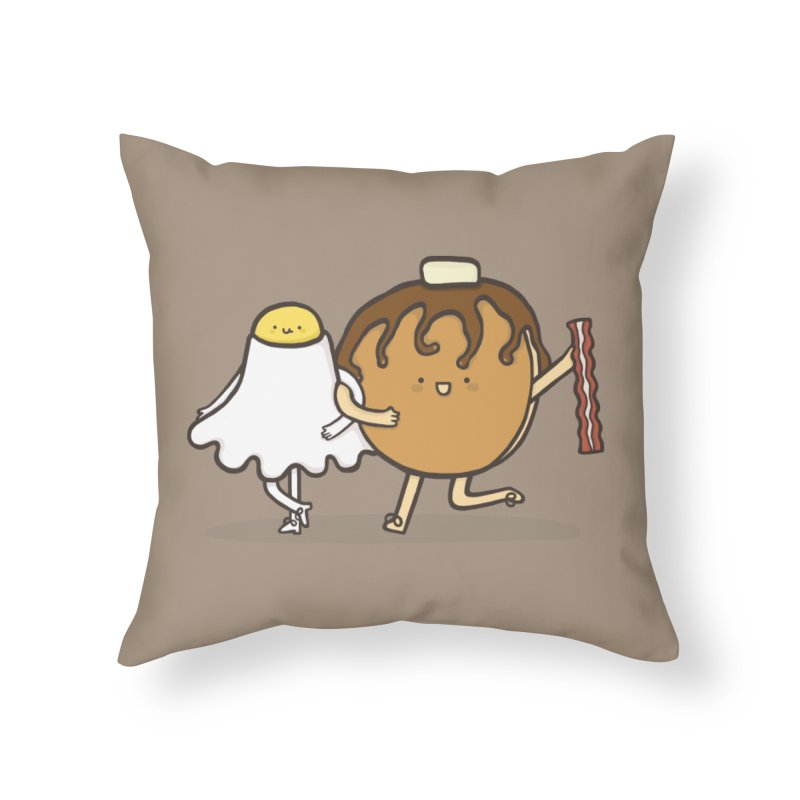 TAP DANCE FOR BREAKFAST Home Throw Pillow by RiLi's Artist Shop