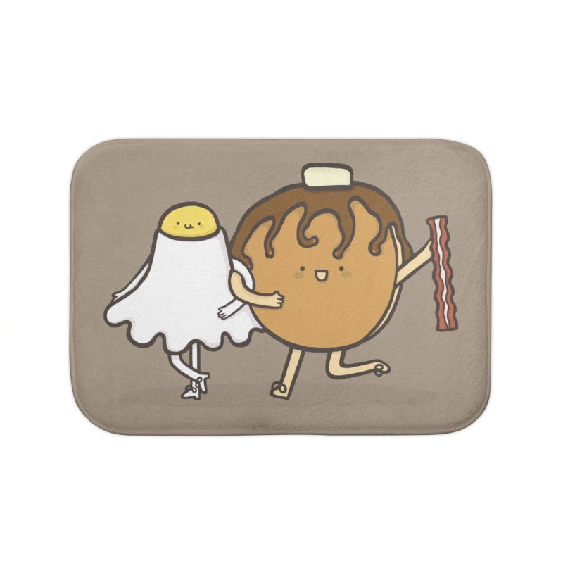 TAP DANCE FOR BREAKFAST Home Bath Mat by RiLi's Artist Shop