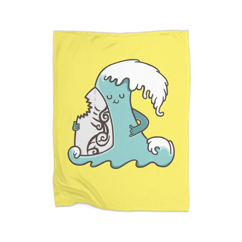 SURF TILL I DIE Home Fleece Blanket Blanket by RiLi's Artist Shop