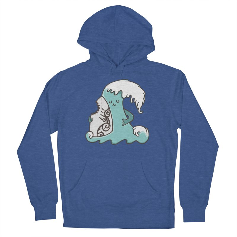 SURF TILL I DIE Men's French Terry Pullover Hoody by RiLi's Artist Shop