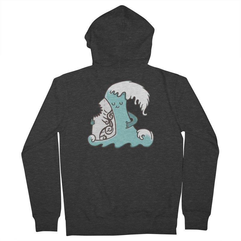 SURF TILL I DIE Women's French Terry Zip-Up Hoody by RiLi's Artist Shop