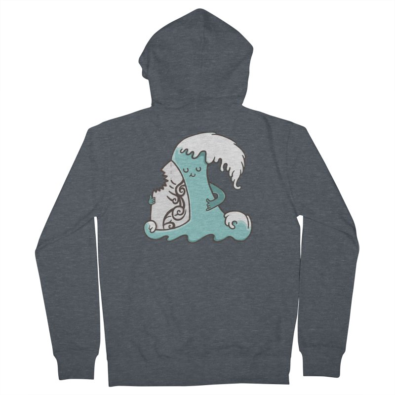 SURF TILL I DIE  Men's Zip-Up Hoody by RiLi's Artist Shop