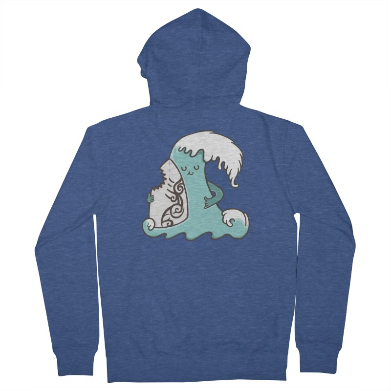 SURF TILL I DIE Men's French Terry Zip-Up Hoody by RiLi's Artist Shop
