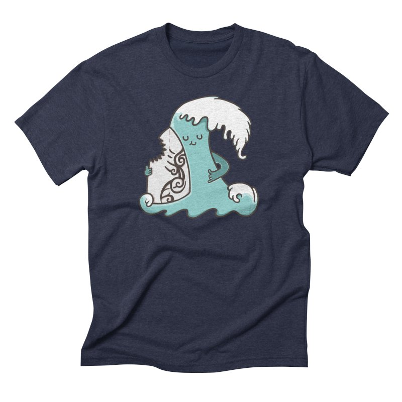 SURF TILL I DIE  Men's Triblend T-shirt by RiLi's Artist Shop