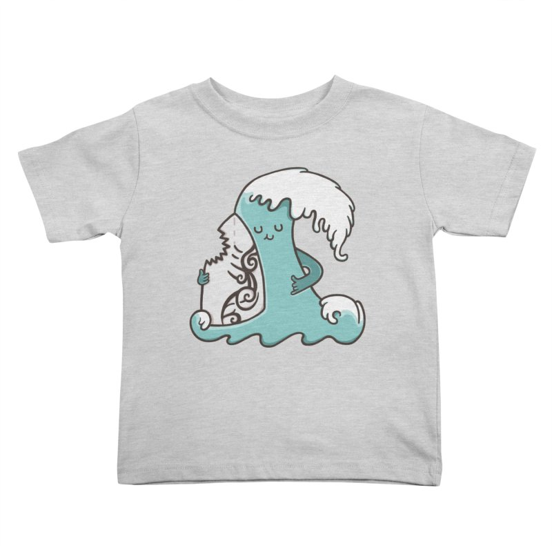 SURF TILL I DIE  Kids Toddler T-Shirt by RiLi's Artist Shop