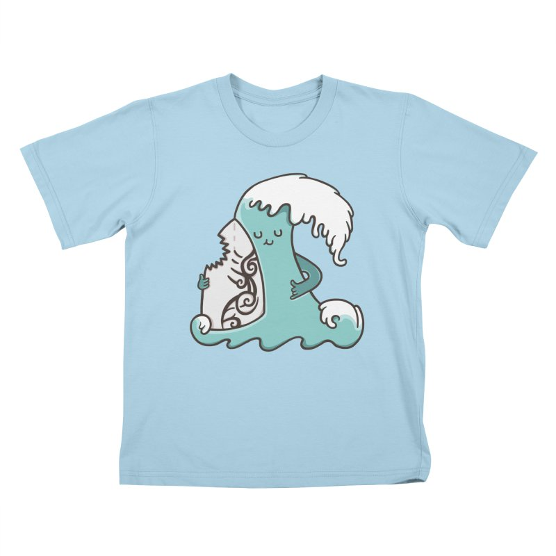 SURF TILL I DIE  Kids T-shirt by RiLi's Artist Shop