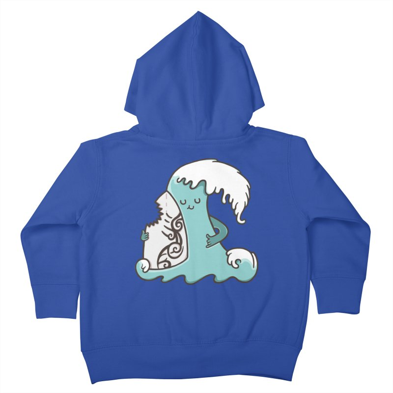 SURF TILL I DIE  Kids Toddler Zip-Up Hoody by RiLi's Artist Shop