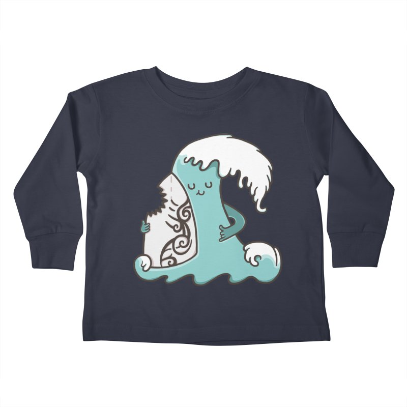 SURF TILL I DIE  Kids Toddler Longsleeve T-Shirt by RiLi's Artist Shop