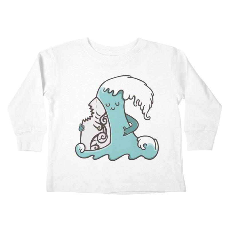 SURF TILL I DIE  Kids Toddler Longsleeve T-Shirt by RiLi's Artist Shop