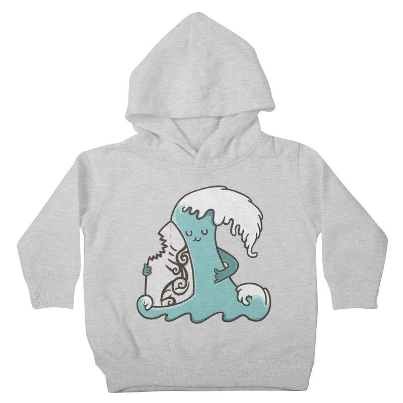 SURF TILL I DIE  Kids Toddler Pullover Hoody by RiLi's Artist Shop