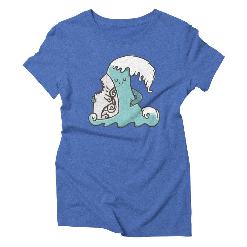 SURF TILL I DIE  Women's Triblend T-shirt by RiLi's Artist Shop