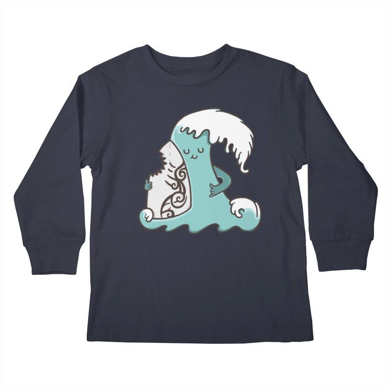 SURF TILL I DIE  Kids Longsleeve T-Shirt by RiLi's Artist Shop
