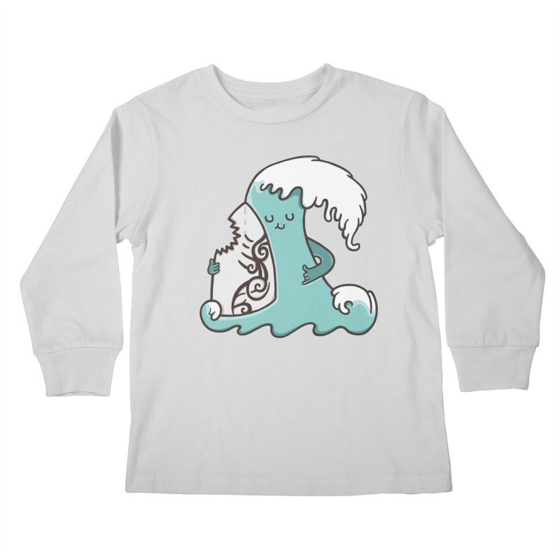 SURF TILL I DIE  Kids Longsleeve T-Shirt by RiLi's Artist Shop