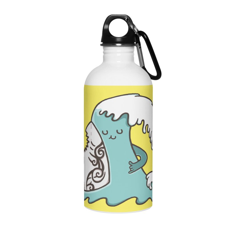 SURF TILL I DIE Accessories Water Bottle by RiLi's Artist Shop