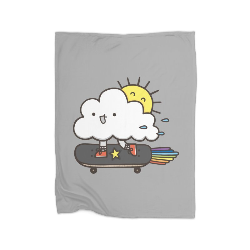 ALWAYS TIME TO SKATE Home Fleece Blanket Blanket by RiLi's Artist Shop
