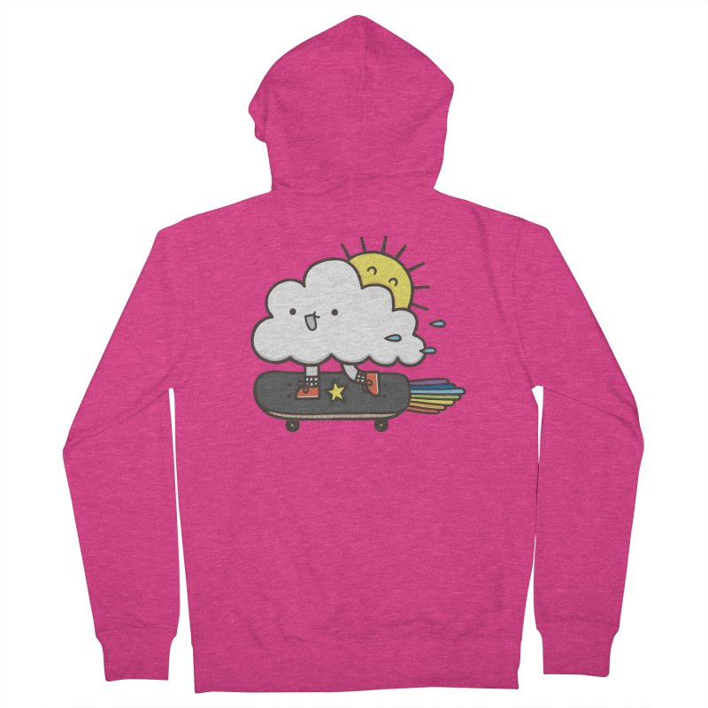 ALWAYS TIME TO SKATE Women's French Terry Zip-Up Hoody by RiLi's Artist Shop