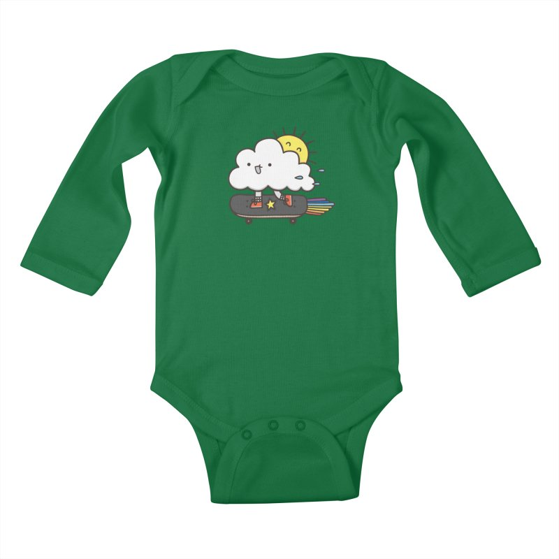 ALWAYS TIME TO SKATE Kids Baby Longsleeve Bodysuit by RiLi's Artist Shop