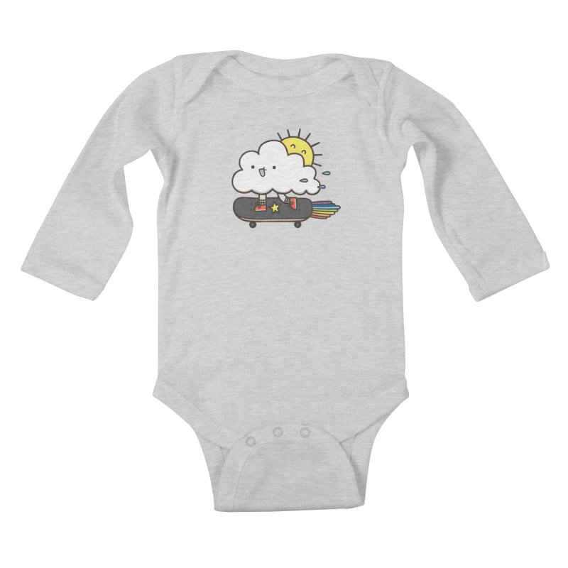 ALWAYS TIME TO SKATE Kids Baby Longsleeve Bodysuit by RiLi's Artist Shop