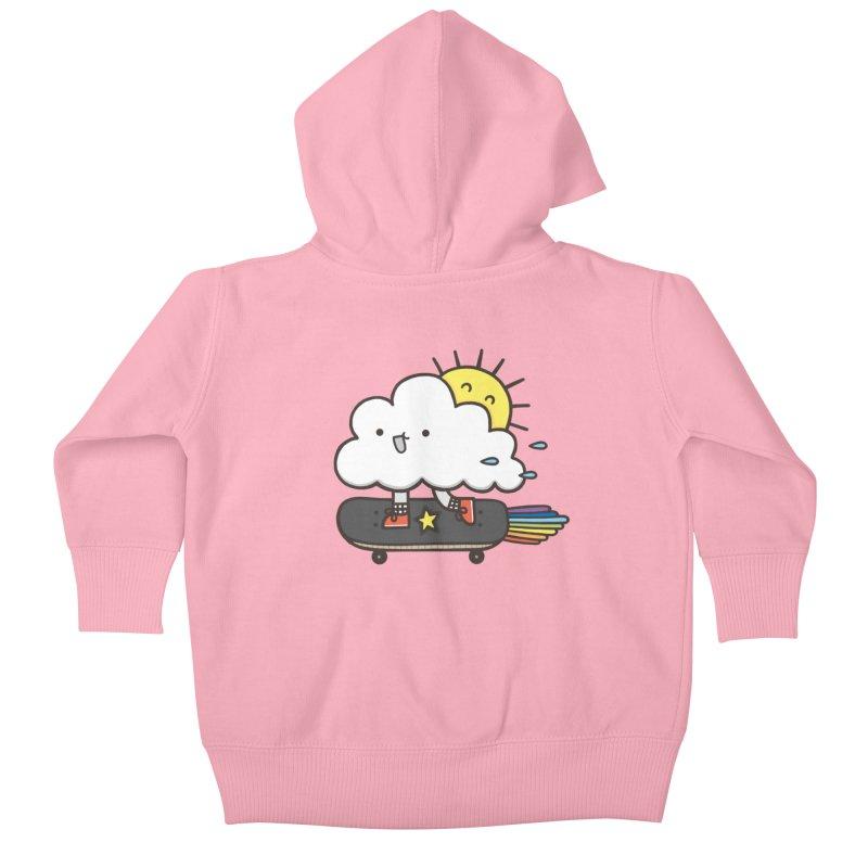 ALWAYS TIME TO SKATE Kids Baby Zip-Up Hoody by RiLi's Artist Shop