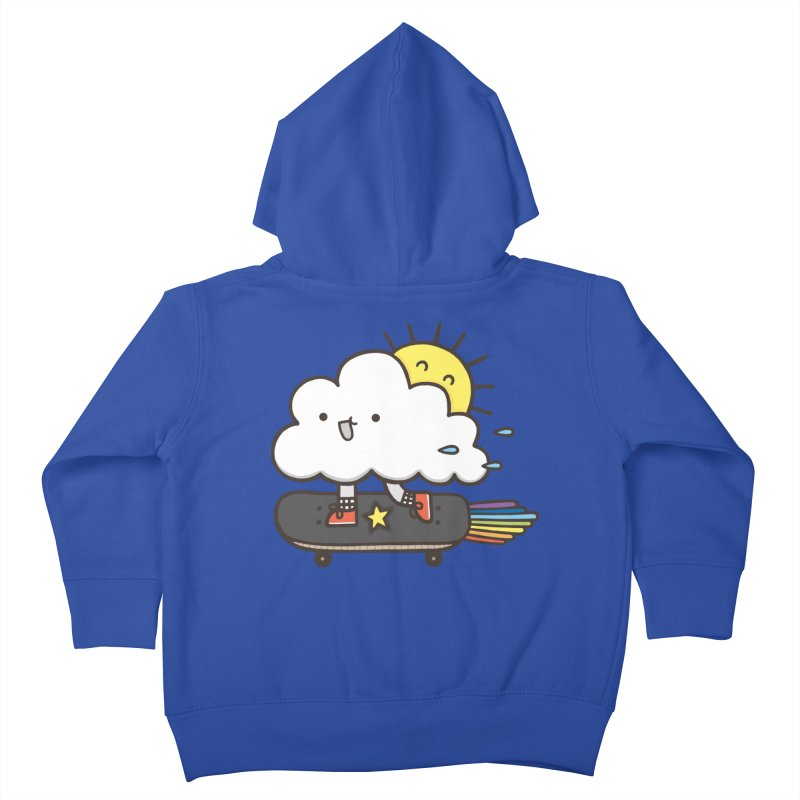 ALWAYS TIME TO SKATE Kids Toddler Zip-Up Hoody by RiLi's Artist Shop
