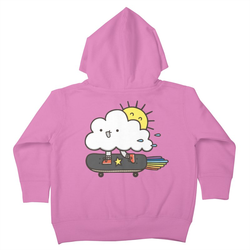 ALWAYS TIME TO SKATE Kids Toddler Zip-Up Hoody by RiLi's Artist Shop