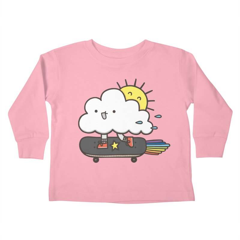 ALWAYS TIME TO SKATE Kids Toddler Longsleeve T-Shirt by RiLi's Artist Shop