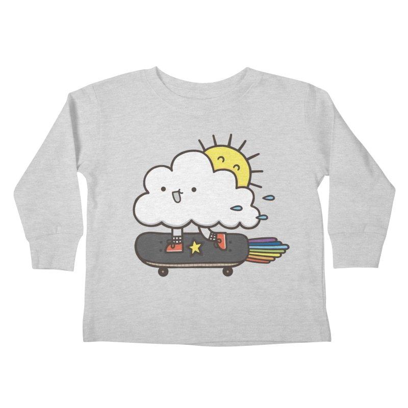ALWAYS TIME TO SKATE Kids Toddler Longsleeve T-Shirt by RiLi's Artist Shop