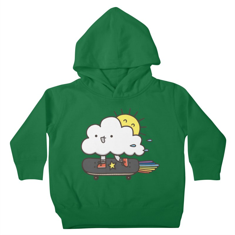 ALWAYS TIME TO SKATE Kids Toddler Pullover Hoody by RiLi's Artist Shop