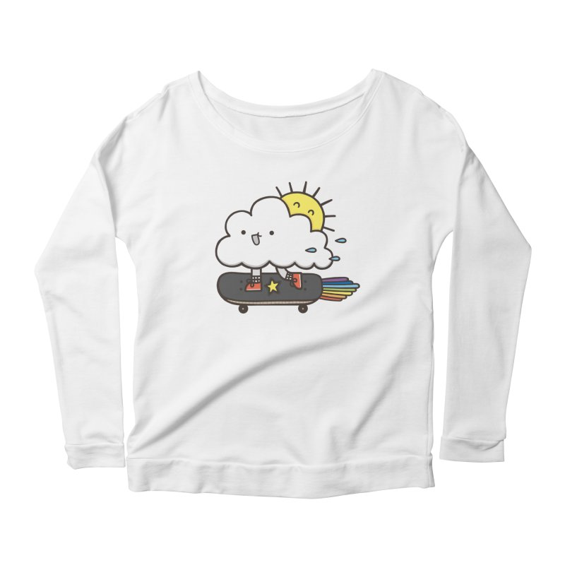 ALWAYS TIME TO SKATE Women's Scoop Neck Longsleeve T-Shirt by RiLi's Artist Shop