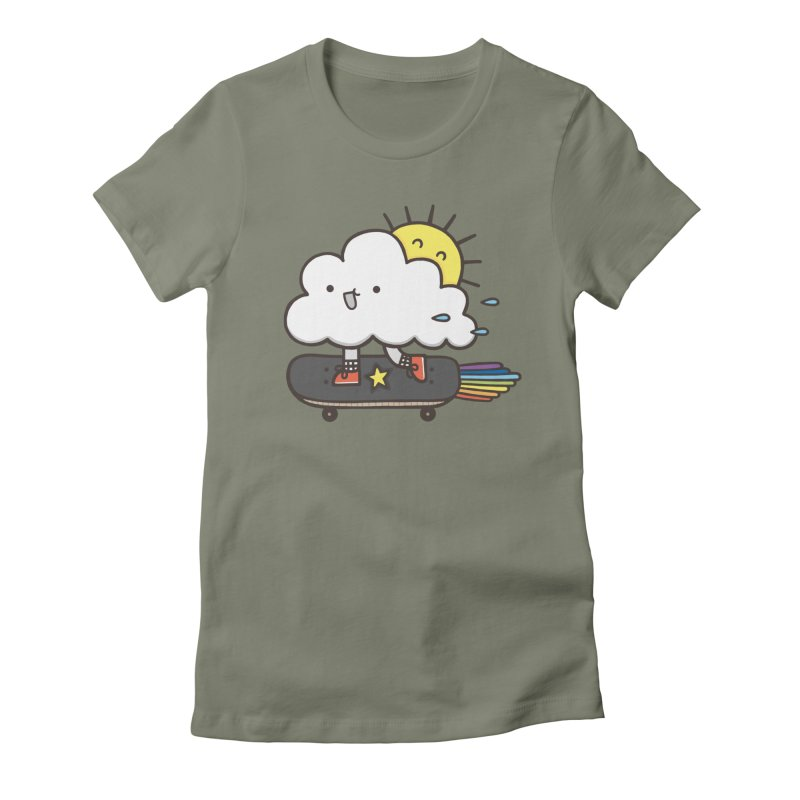 ALWAYS TIME TO SKATE Women's Fitted T-Shirt by RiLi's Artist Shop