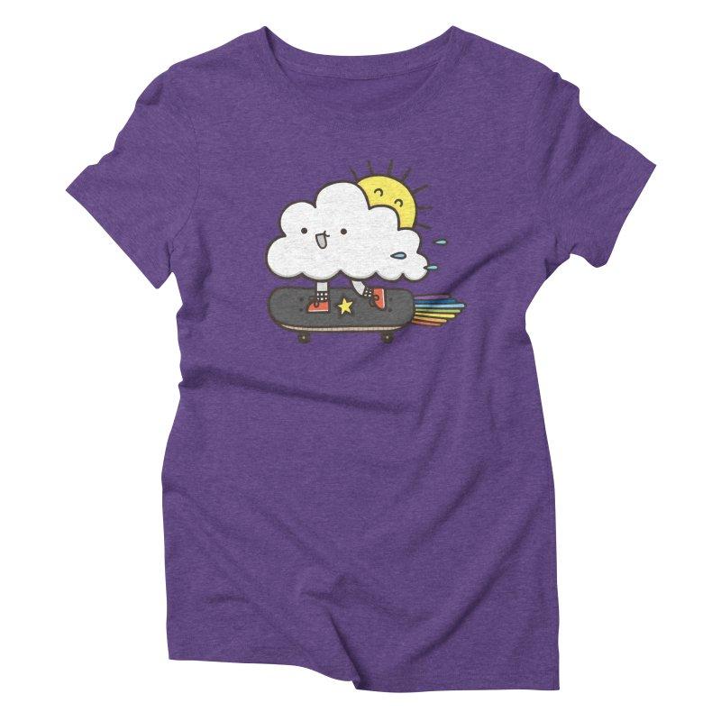 ALWAYS TIME TO SKATE Women's Triblend T-shirt by RiLi's Artist Shop