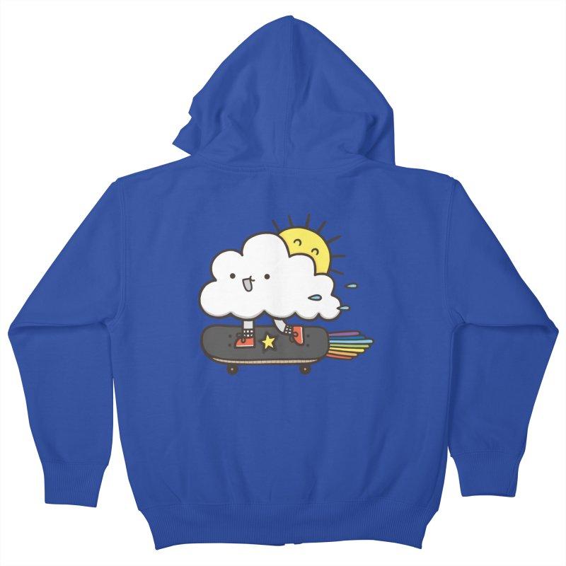 ALWAYS TIME TO SKATE Kids Zip-Up Hoody by RiLi's Artist Shop