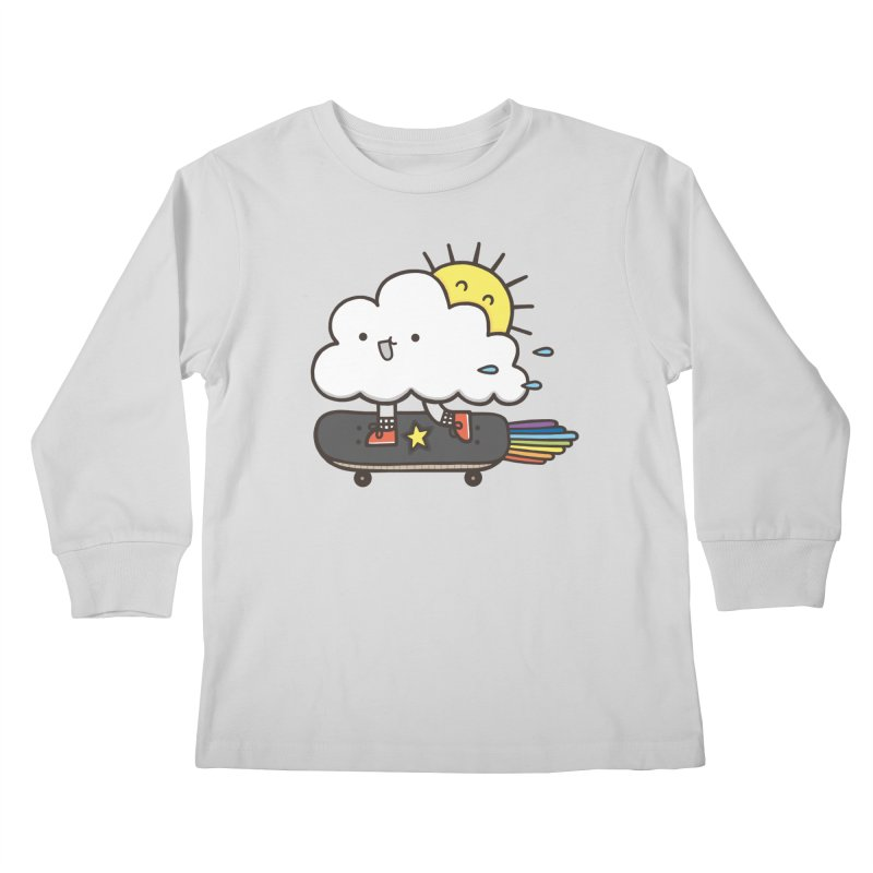 ALWAYS TIME TO SKATE Kids Longsleeve T-Shirt by RiLi's Artist Shop