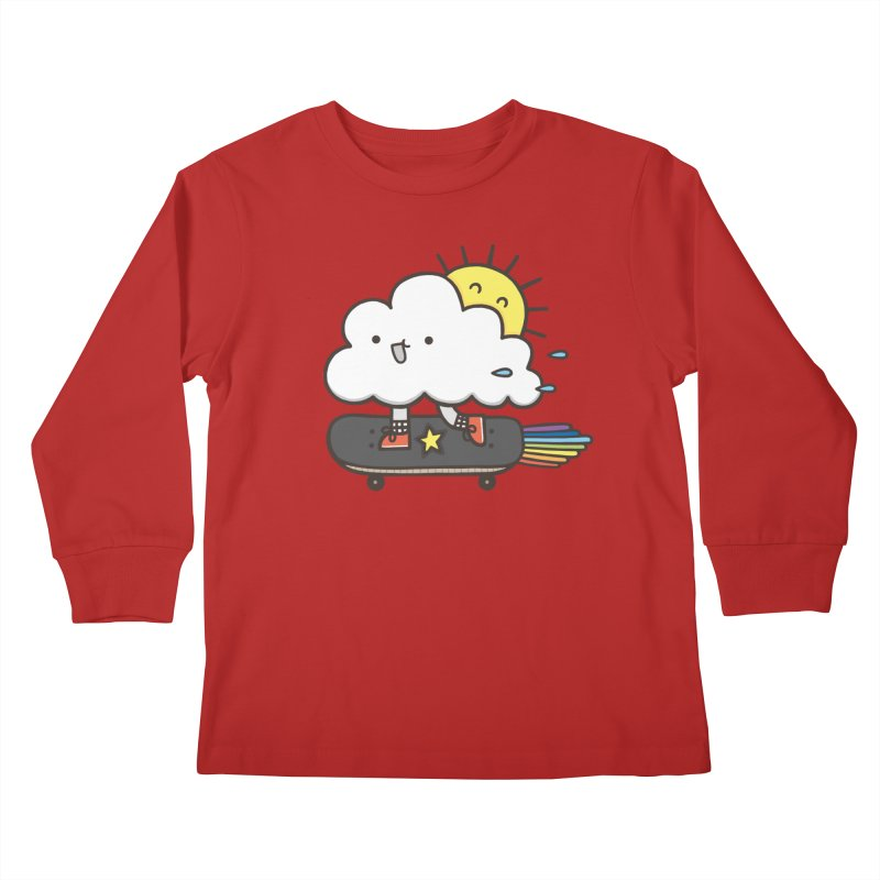 ALWAYS TIME TO SKATE Kids Longsleeve T-Shirt by RiLi's Artist Shop