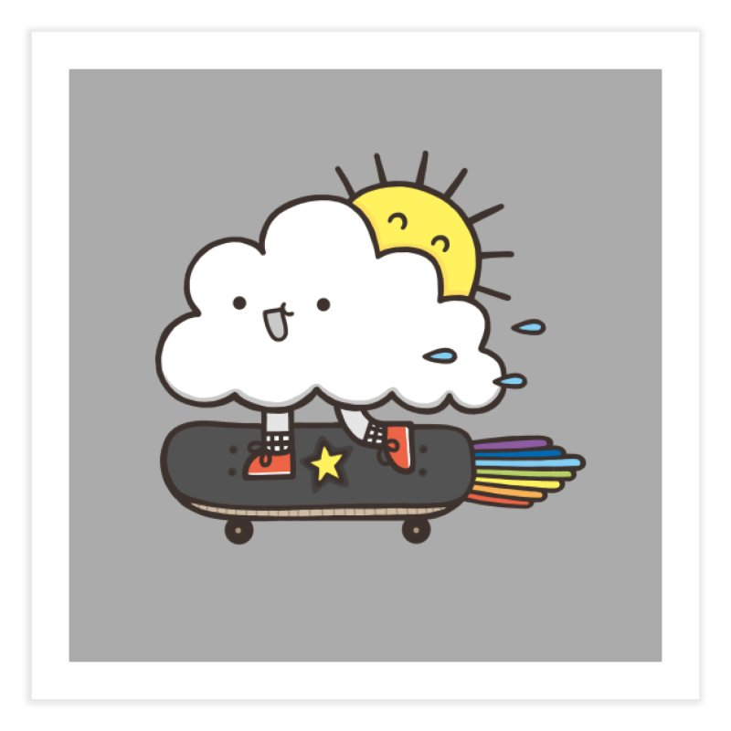ALWAYS TIME TO SKATE Home Fine Art Print by RiLi's Artist Shop