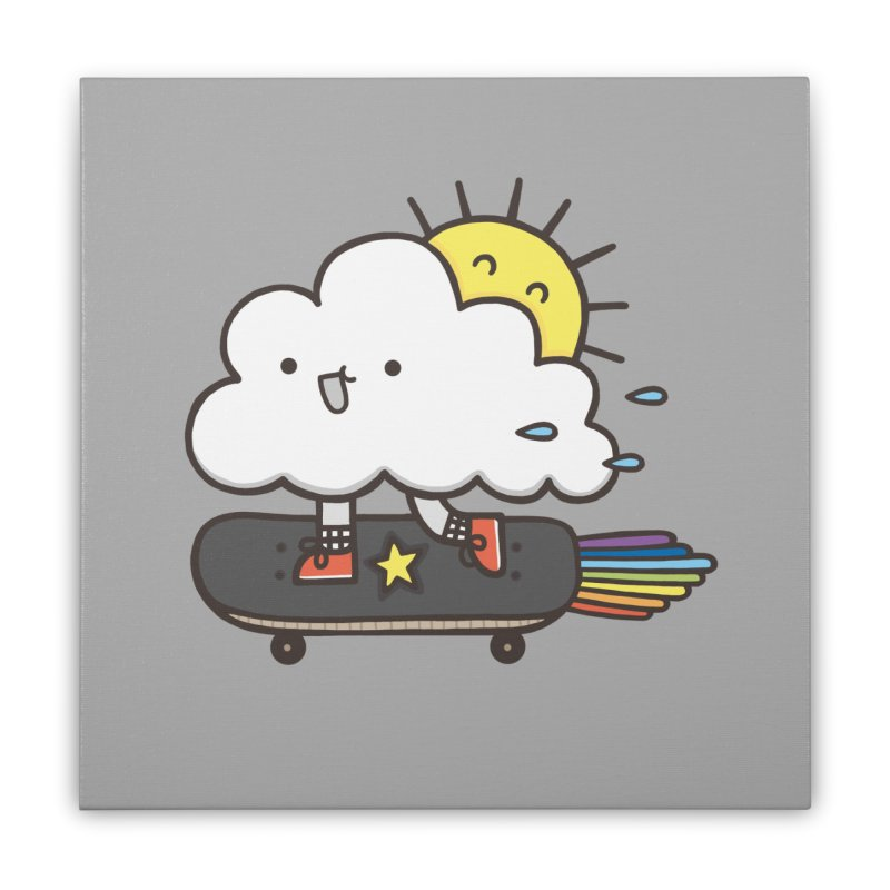 ALWAYS TIME TO SKATE Home Stretched Canvas by RiLi's Artist Shop