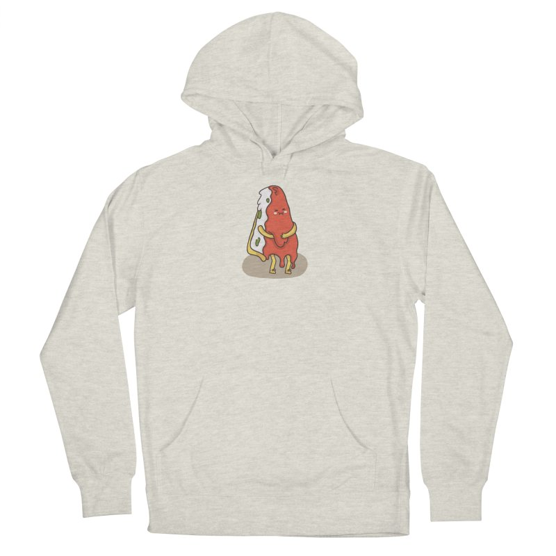 DEEP DISH PIZZA Men's French Terry Pullover Hoody by RiLi's Artist Shop