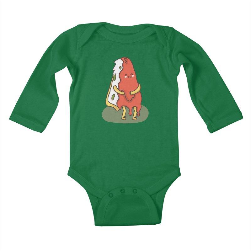 DEEP DISH PIZZA Kids Baby Longsleeve Bodysuit by RiLi's Artist Shop
