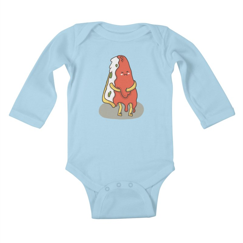 DEEP DISH PIZZA Kids Baby Longsleeve Bodysuit by RiLi's Artist Shop