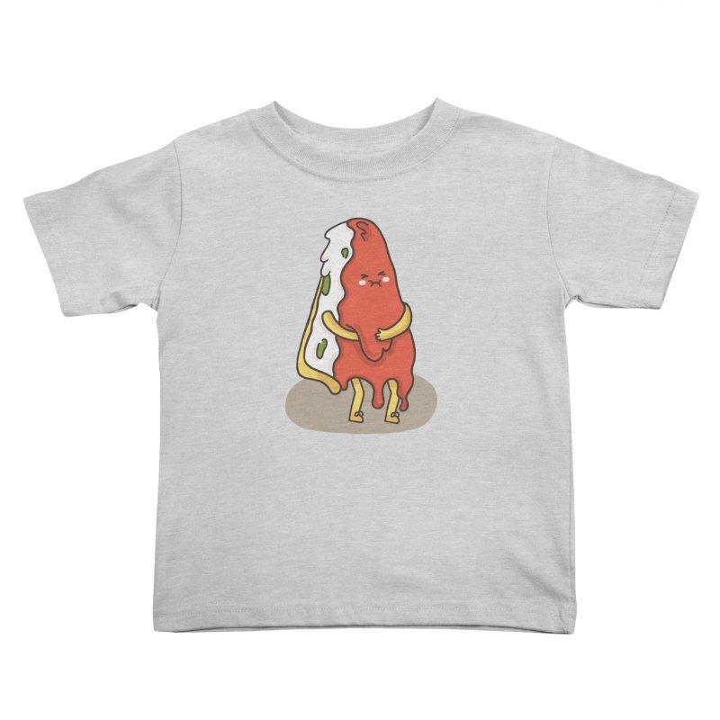 DEEP DISH PIZZA Kids Toddler T-Shirt by RiLi's Artist Shop
