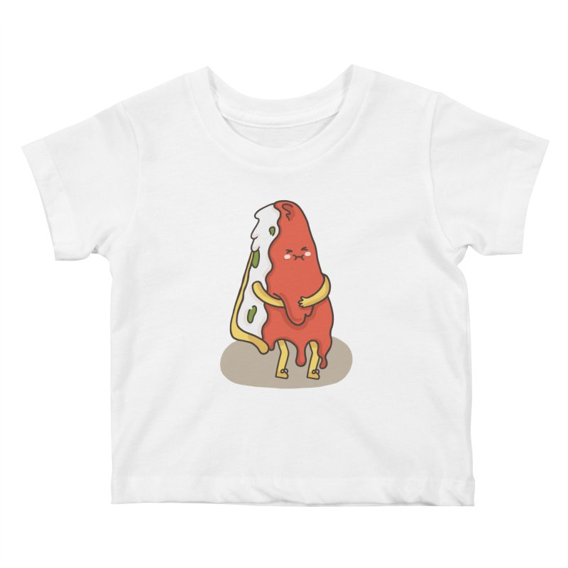 DEEP DISH PIZZA Kids Baby T-Shirt by RiLi's Artist Shop