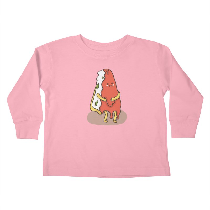 DEEP DISH PIZZA Kids Toddler Longsleeve T-Shirt by RiLi's Artist Shop