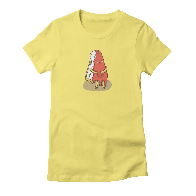 DEEP DISH PIZZA Women's Fitted T-Shirt by RiLi's Artist Shop