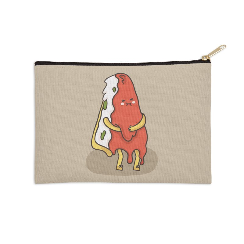 DEEP DISH PIZZA Accessories Zip Pouch by RiLi's Artist Shop